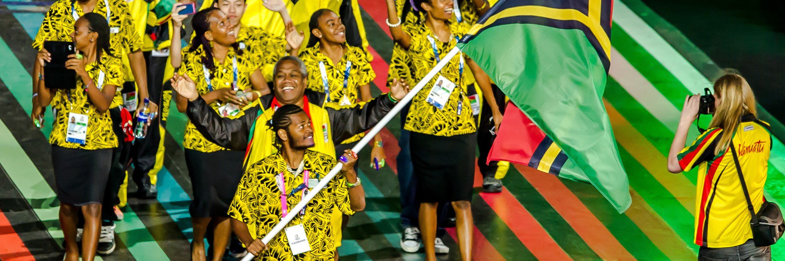 Team Vanuatu & TRA Crew during opening ceremony